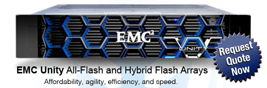 EMC Unity Flash Storage Arrays now Shipping. Request a quote now!