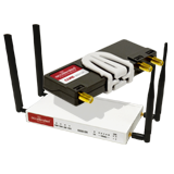 Accelerated Modular 6350-SR LTE Router (without Wi-Fi) and Integrated Plug-In LTE Modem; CAT 3; LTE / HSPA+ / EV-DO