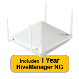 Aerohive HiveAP 122X Access Point, 2 radio 2x2:2 802.11a/b/g/n/ac with 1 Year HiveManager NG Subscription
