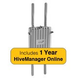 Aerohive HiveAP 170 Access Point Bundle, Outdoor, Dual Radio, 2x2 Ant. 802.11a/b/g/n & 1 Year HiveManager Online Subscription