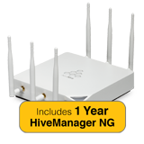 Aerohive HiveAP 350 Access Point Bundle with Indoor Antenna Kit & 1 Year HiveManager NG Subscription - No Power Supply/Inj