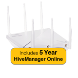 Aerohive HiveAP 390 Access Point Bundle, Indoor, Dual Radio, 3x3:3, 802.11ac with 5 Years HiveManager Online Subscription