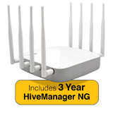 Aerohive AP650X Indoor Plenum Rated Access Point & 3 Year HiveManager NG Subscription