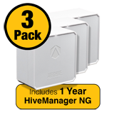 Aerohive ATOM AP30 Access Point 3 Pack - Dual Radio 802.11ac/n & 1 Year HiveManager NG Subscription