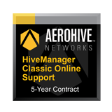 Aerohive Networks HiveManager Classic Online Subscription for one (1) Aerohive Access Point, Router or Switch - 5 Year