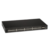 Aerohive Networks SR2348P 48-Port Gigabit Ethernet Switch with POE+, 4 x 10GE SFP+ uplinks, 740W POE budget, Layer 2, Stacking,