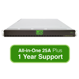 AlienVault USM All-in-One 25A, Hardware Appliance with 1 Year Support