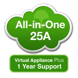 AlienVault USM All-in-One 25A (1TB), Virtual Appliance with 1 Year Support