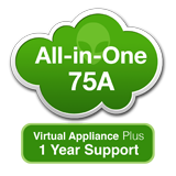 AlienVault USM All-in-One 75A Virtual Appliance with 1 Year Support