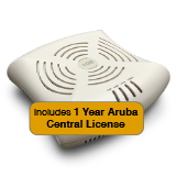 Aruba Networks Instant 104 Wireless Access Point Bundle, 802.11a/b/g/n, 2x2:2 Dual Radio with 1 Year Aruba Central License