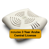 Aruba Networks Instant 104 Wireless Access Point Bundle, 802.11a/b/g/n, 2x2:2 Dual Radio with 3 Years Aruba Central License