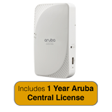 Aruba Networks IAP-205H Wireless Access Point - Hospitality, 802.11ac, 2x2:2, Dual Radio with 1 Year Aruba Central License