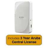 Aruba Networks IAP-205H Wireless Access Point - Hospitality, 802.11ac, 2x2:2, Dual Radio with 3 Years Aruba Central License