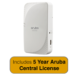 Aruba Networks IAP-205H Wireless Access Point - Hospitality, 802.11ac, 2x2:2, Dual Radio with 5 Years Aruba Central License