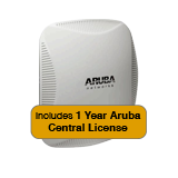 Aruba Networks Instant 224 Wireless Access Point Bundle, 802.11 n/ac, 3x3:3 Dual Radio with 1 Year Aruba Central License