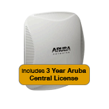 Aruba Networks Instant 224 Wireless Access Point Bundle, 802.11 n/ac, 3x3:3 Dual Radio with 3 Years Aruba Central License
