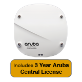 Aruba Networks Instant IAP-324 Wireless AP Bundle, 802.11n/ac, 4x4 MU-MIMO, Dual Radio w/3 Yrs Aruba Central License