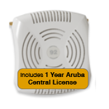 Aruba Networks Instant 92 Wireless Access Point Bundle, 802.11a/b/g/n, Dual-Band with 1 Year Aruba Central License