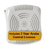 Aruba Networks Instant 92 Wireless Access Point Bundle, 802.11a/b/g/n, Dual-Band with 3 Years Aruba Central License
