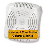 Aruba Networks Instant  93 Wireless Access Point Bundle, 802.11a/b/g/n, Dual-Band with 1 Year Aruba Central License