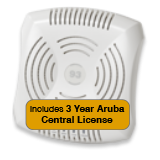 Aruba Networks Instant  93 Wireless Access Point Bundle, 802.11a/b/g/n, Dual-Band with 3 Years Aruba Central License