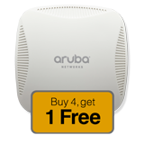 Aruba Networks Instant 204 Wireless Access Point 5-Pack Promo, 802.11 n/ac, 2x2:2 Dual Radio (Limit two 5-Pack Per Customer)