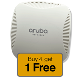Aruba Networks Instant 215 Wireless Indoor Access Point 5-Pack Promo, 802.11 n/ac, Dual Radio (Limit two 5-Pack per Customer)