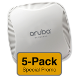 Aruba Networks Instant 114 Wireless Access Point 5-Pack, 802.11 a/b/g/n, 3x3:3 Dual Radio (Limit one 5-Pack Per Customer)