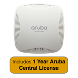 Aruba Networks Instant 204 Wireless Access Point, 802.11 n/ac, 2x2:2 Dual Radio with 1 Year Aruba Central License