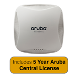 Aruba Networks Instant 224 Wireless Access Point Bundle, 802.11 n/ac, 3x3:3 Dual Radio with 5 Years Aruba Central License