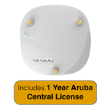 HP Aruba Instant IAP-304 802.11ac Access Point - 2x2:2/3x3:3 MU-MIMO Dual Radio with 1 Year Aruba Central License