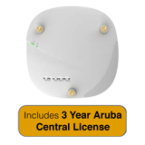 HP Aruba Instant IAP-304 802.11ac Access Point - 2x2:2/3x3:3 MU-MIMO Dual Radio with 3 Year Aruba Central License