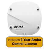 Aruba Networks IAP-314 Wireless Access Point,  802.11n/ac, 4x4 MU-MIMO, Dual Radio with 3 Years Aruba Central License