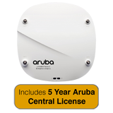 Aruba Networks IAP-314 Wireless Access Point,  802.11n/ac, 4x4 MU-MIMO, Dual Radio with 5 Years Aruba Central License