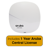 Aruba Networks IAP-315 Wireless Access Point, 802.11n/ac, 4x4 MU-MIMO, Dual Radio with 1 Year Aruba Central License
