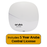 Aruba Networks IAP-335 NBase-T Access Point, 802.11n/ac, 4x4 MU-MIMO, Dual Radio with 5 Year Aruba Central License