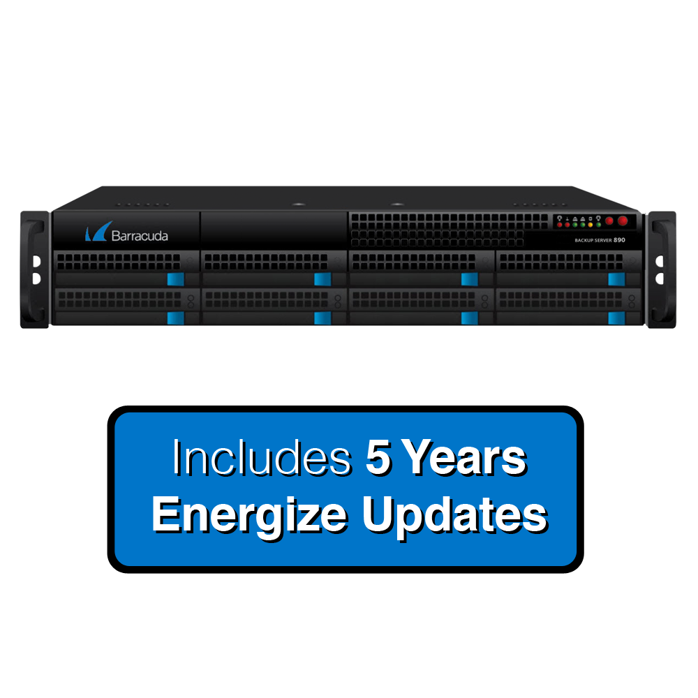 Barracuda Networks Backup Server 890a with Energize Updates for 5 Years