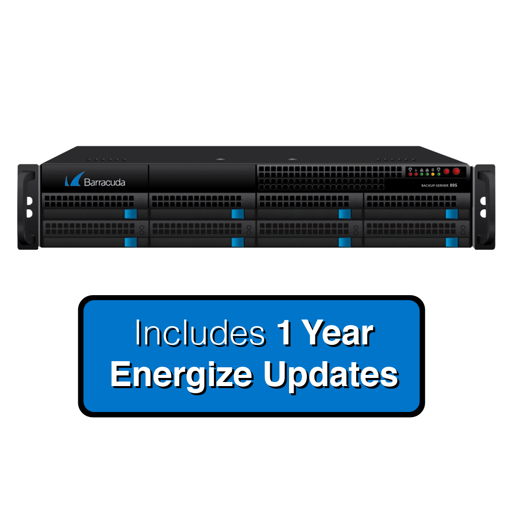 Barracuda Networks Backup Server 895a for Backups up to 16TB - Includes Energize Updates for 1 Year