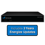 Barracuda Networks Next-Generation Firewall X200, 1 Gbps Firewall Throughput, 4 x GbE Ports with 3 Years Energize Updates