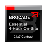 Essential 4-Hour On-Site Support Maintenance 1-Year Contract for Brocade FastIron FCX 624S, FCX 624-I/E/-ADV