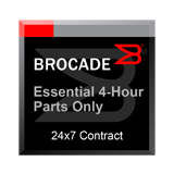 Essential 4-Hour Parts Only Support Maintenance 1-Year Contract for Brocade 6520