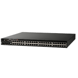 Brocade FCX 648 Ethernet Switch - 48 ports 10/100/1000 Mbps Ethernet, Front-to-Back Airflow, Includes (1) RPS13-E Power Supply