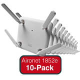 Cisco Aironet 1852e Eco-pack - Qty. 10 Indoor Dual-band, Controller-based 802.11a/g/n/ac, Wave 2 APs with External Antennas