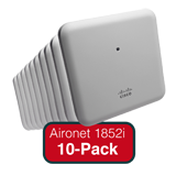 Cisco Aironet 1852i Eco-pack - Qty. 10 Indoor Dual-band, Controller-based 802.11a/g/n/ac, Wave 2 Access Points with Internal Ant
