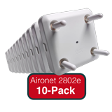 Cisco Aironet 2800e Eco-pack-Qty. 10 APs Indoor, Challenging Environ. Dual-band, Controller-based 802.11a/g/n/ac w/Ext. Antennas