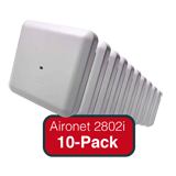 Cisco Aironet 2800i Eco-pack - Qty. 10 Access Points Indoor Dual-band, controller-based 802.11a/g/n/ac with Internal Antennas