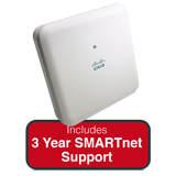 Cisco Aironet 1830 Indoor Dual-band, controller-based 802.11a/g/n/ac, Wave 2 AP Bundle - Includes 3 Yrs SMARTnet 8x5 NBD Support