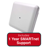 Cisco Aironet 2800i AP Indoor Dual-band, controller-based 802.11a/g/n/ac w/Int. Ant. Bundle - Incl. 1Yr SMARTnet 8x5 NBD Support