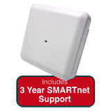 Cisco Aironet 2800i AP Indoor Dual-band, Controller-based 802.11a/g/n/ac w/Int. Ant. Bundle - Incl. 3Yr SMARTnet 8x5 NBD Support
