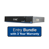 EMC VNXe1600 Entry System 3.6TB Bundle - 6x 600Gb 10K SAS, Dual Controller, Base Software, 3 Year Warranty Support